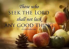 those who seek the lord lacks nothing